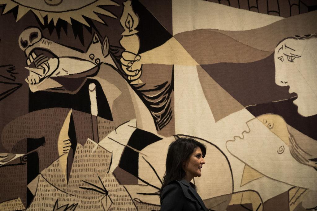 Retiran de la ONU el tapiz del 'Guernica' que estuvo colgado allí durante más de 35 años