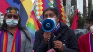 Indígenas protestan en Quito por resultados electorales