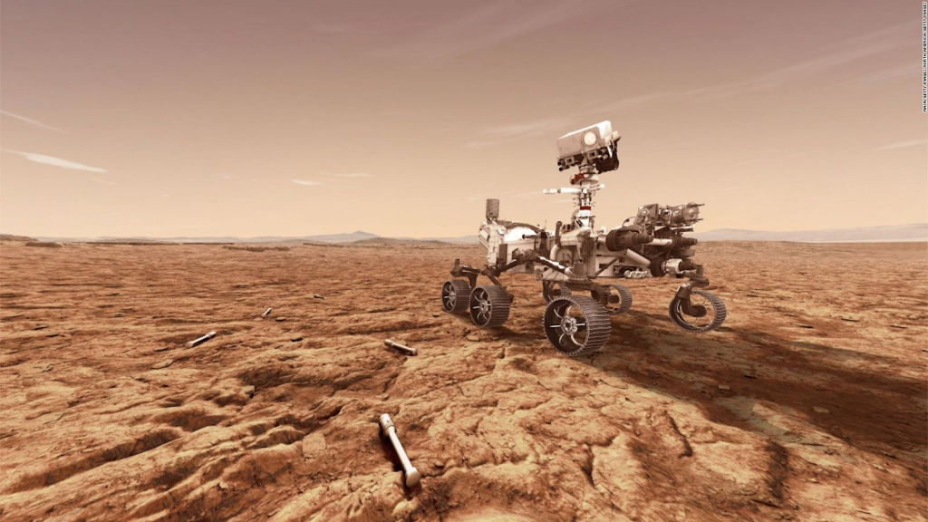 El róver Perseverance tuvo su primer viaje por Marte