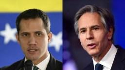 Primera conversación entre Antony Blinken y Juan Guaidó
