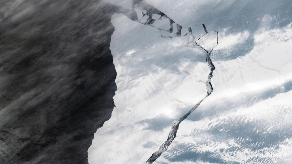 Nuevas imágenes de la NASA de un témpano en la Antártida