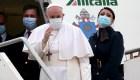 Así llegó el papa Francisco a Iraq