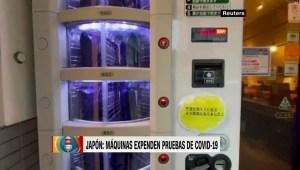 Máquina expendedora de pruebas de covid-19 en Tokio