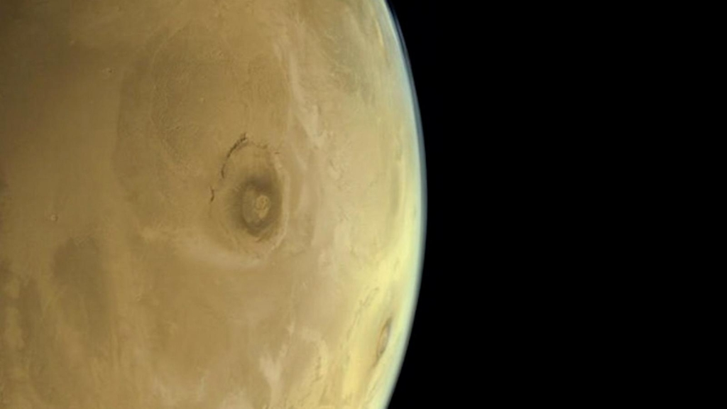 This is the largest Olympus Mons volcano on Mars