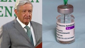 AMLO: No se consideran riesgos aplicación de AstraZeneca