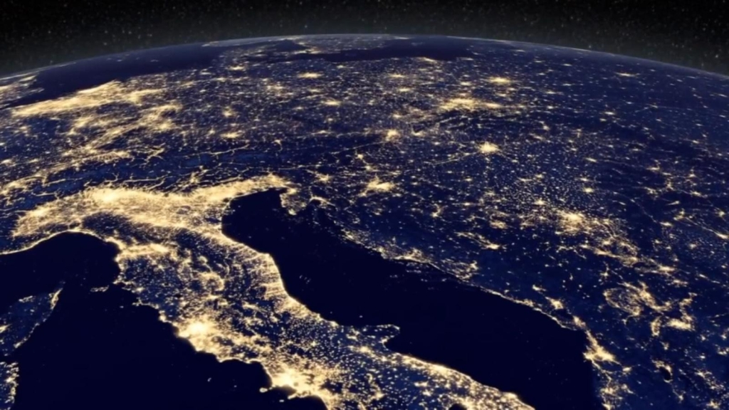 This is how cities look at night from space