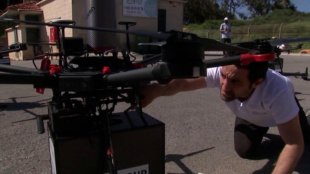 Israel prueba el delivery con drones