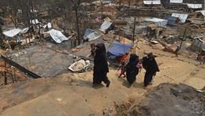 El antes y el después del incendio en campamento de rohinyás Bangladesh