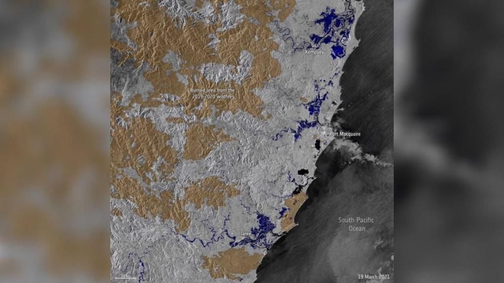 Satélites capturan históricas inundaciones en Australia