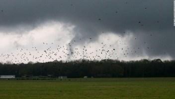 Tornados y fuertes vientos azotan cinco estados mientras las tormentas continúan en el sureste
