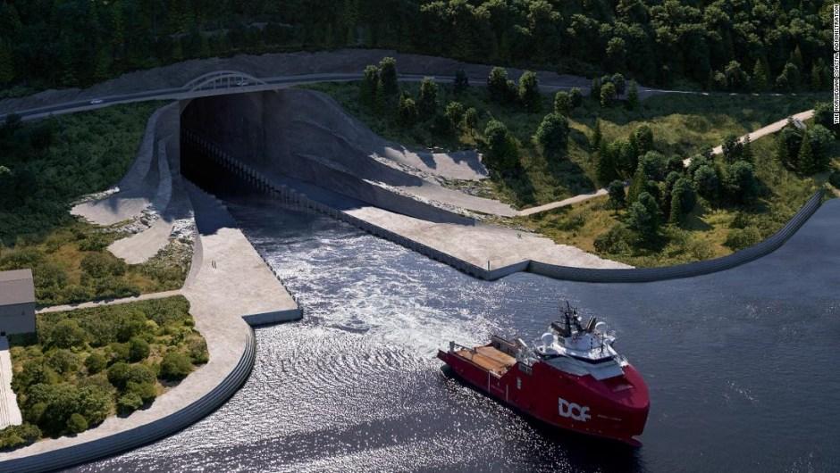 Noruega túnel de barcos