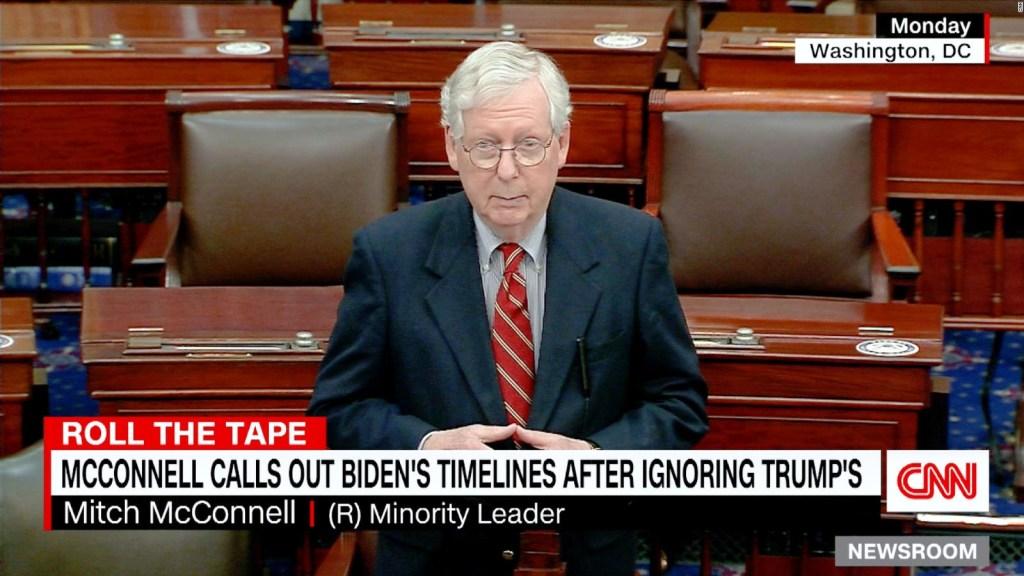 """McConnell: """"Biden no tiene autoridad para llevar el país hacia la izquierda"""""""