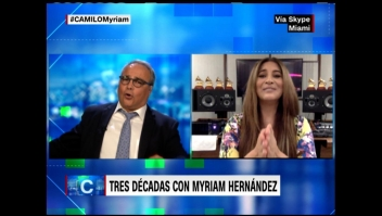 Myriam Hernández hace cantar a Camilo