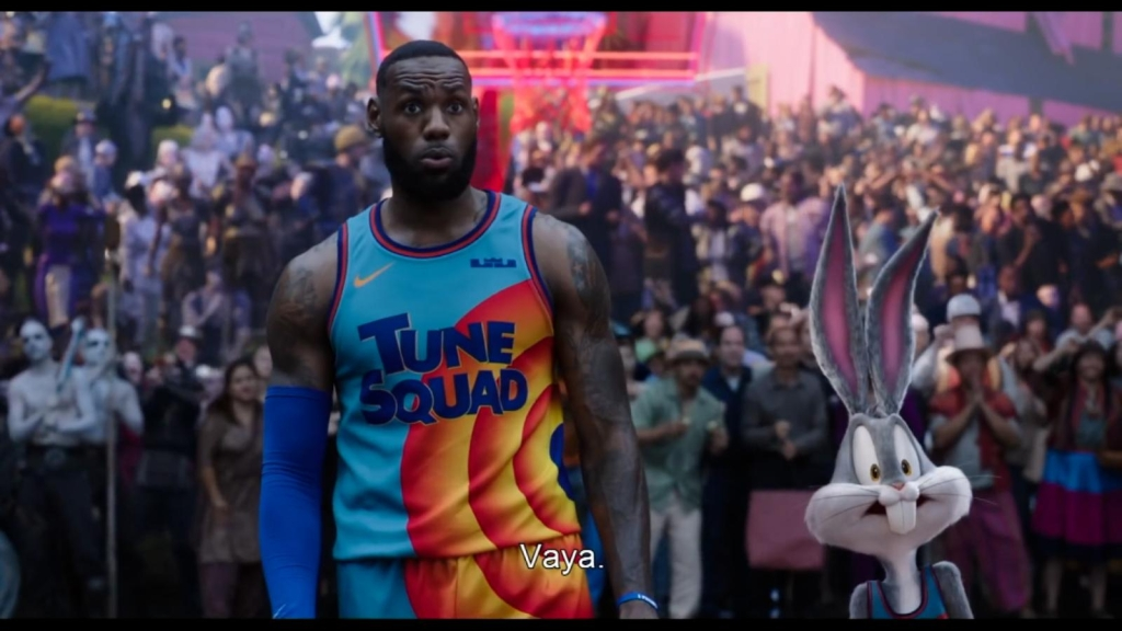 "This is the leading role of LeBron in the new ""Space jam"""