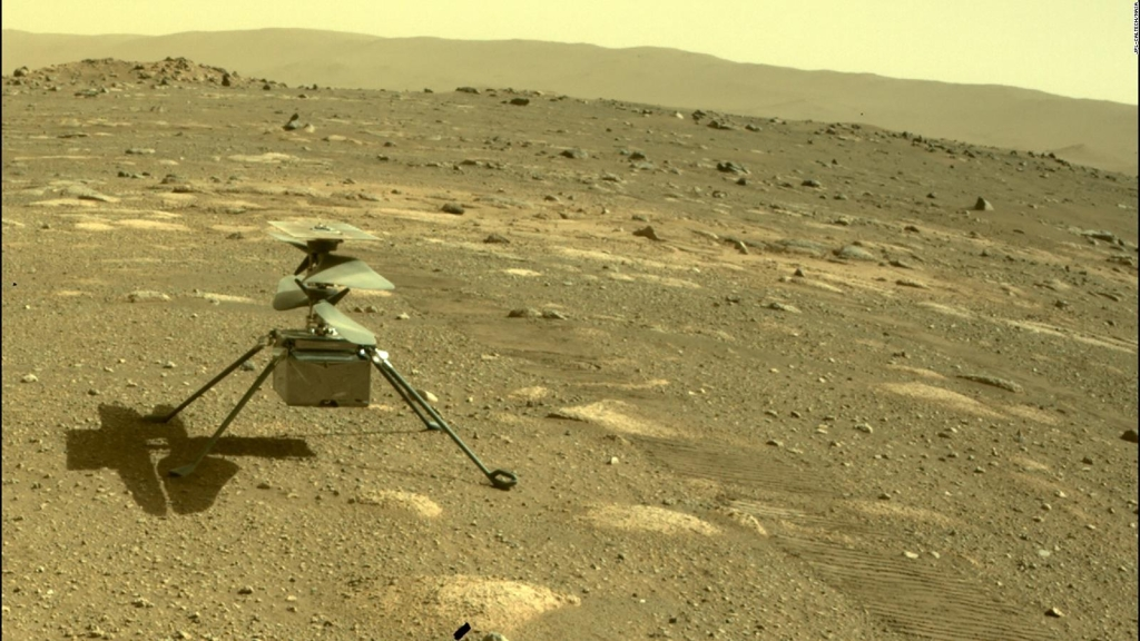 An ingenious helicopter steps on the land of Mars