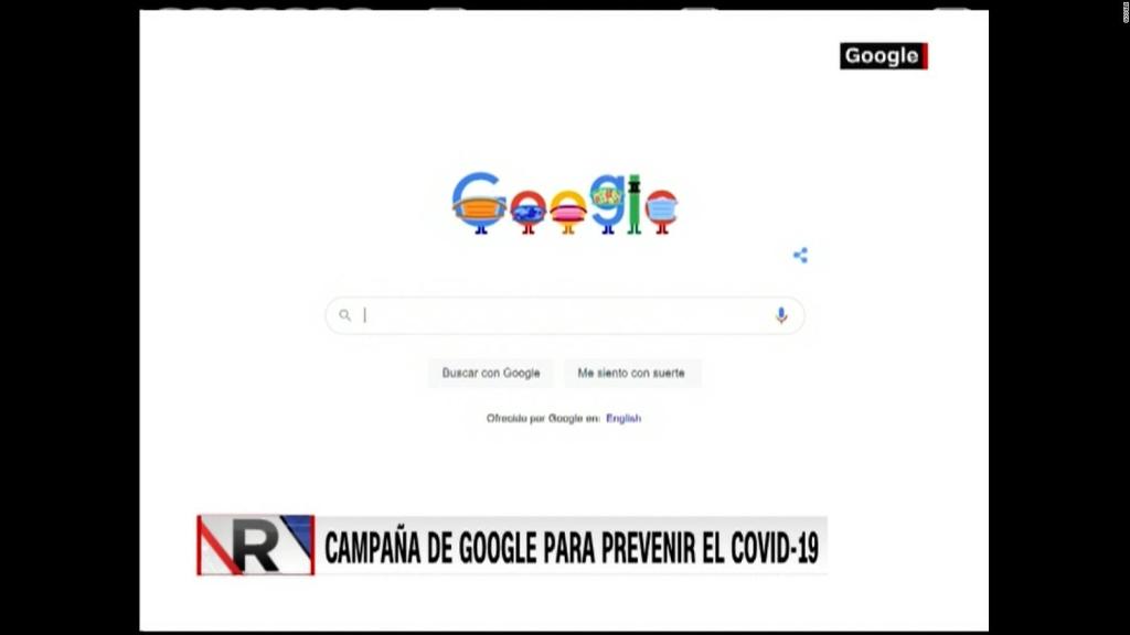El doodle de Google para concientizar sobre el covid-19