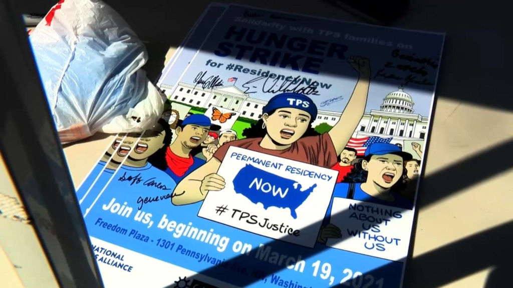 Beneficiarios de TPS hacen huelga de hambre