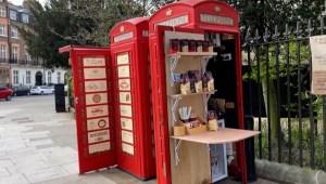 Tienen nueva vida cabinas telefónicas rojas de Londres