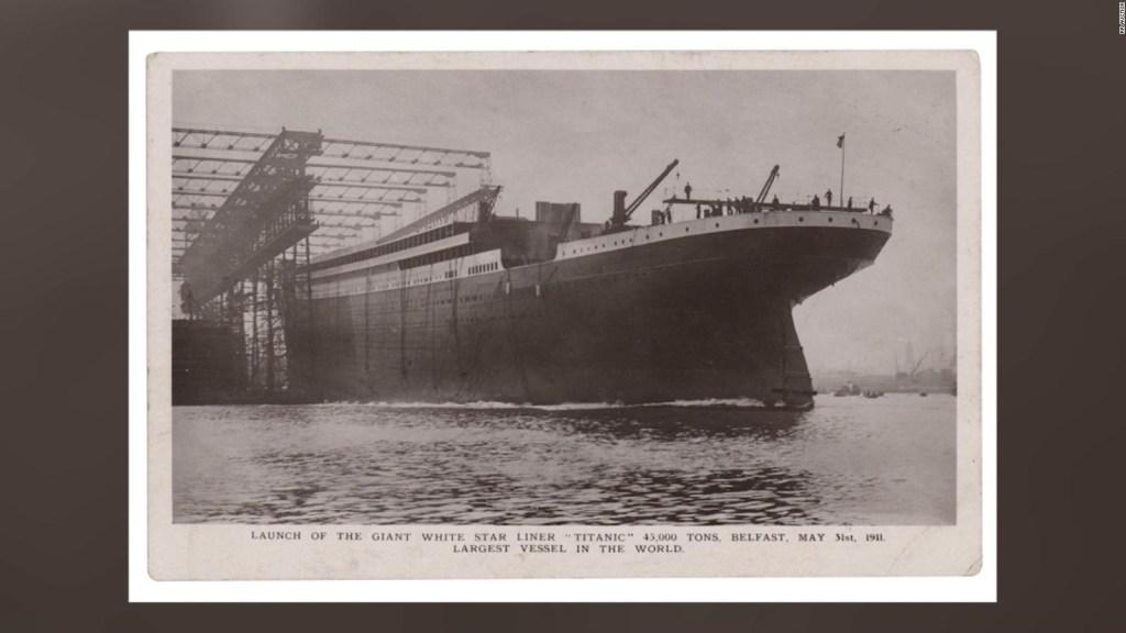 Subastan postal de un operador de radio del Titanic