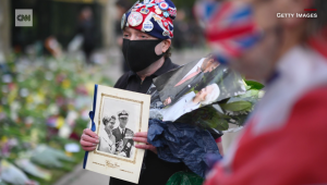 Homenaje al príncipe Felipe frente al Palacio de Buckingham