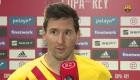 Emotivas palabras de Messi tras levantar la Copa del Rey