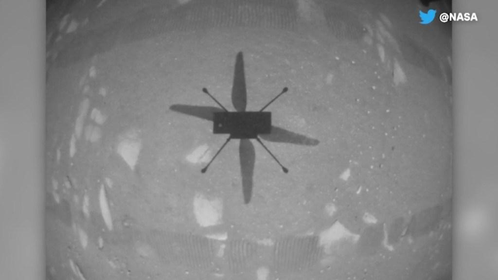 Así voló el Helicóptero Ingenuity en Marte
