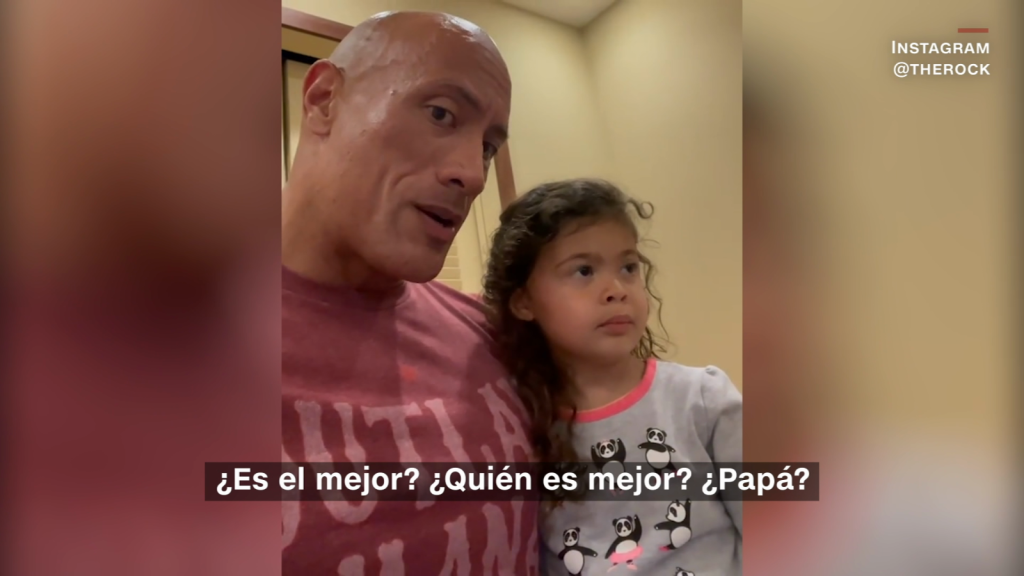 Hija de The Rock dice que Aquaman es mejor que su papá