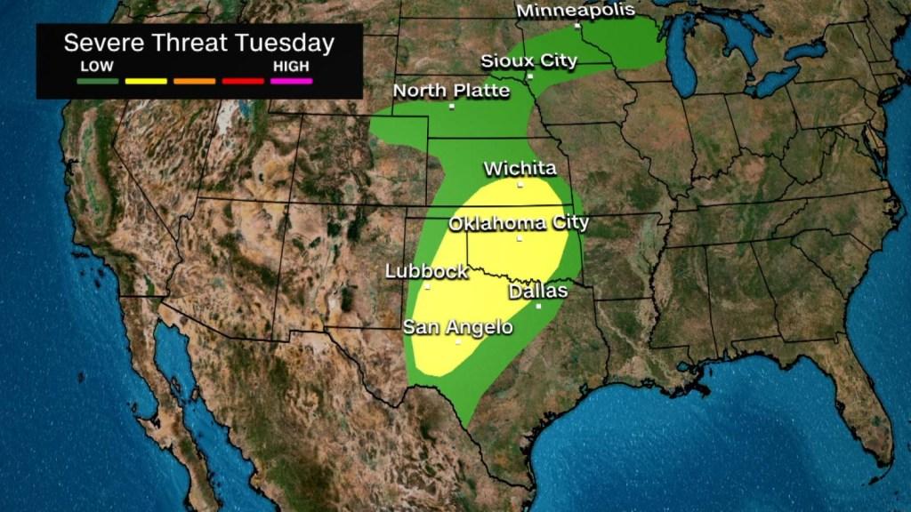 Fuertes tormentas podrían golpear a EE.UU. esta semana