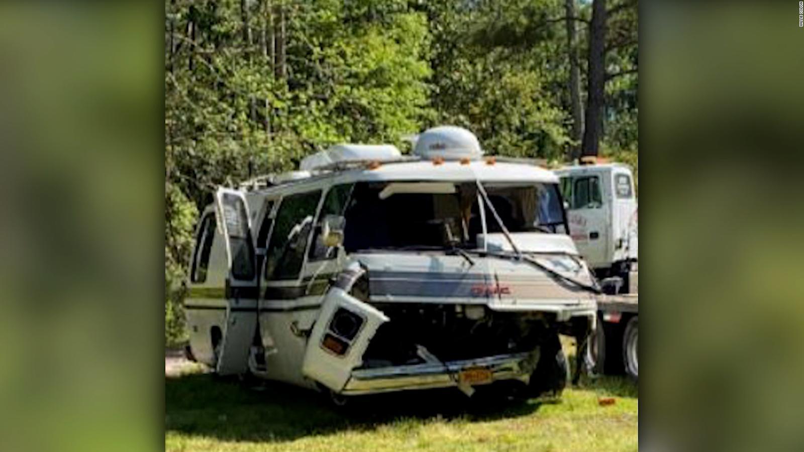 Willie Colón: así quedó la caravana tras el accidente con su esposa