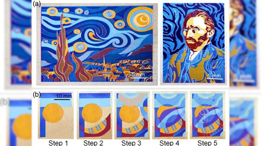 """Mira """"La noche estrellada"""" de Van Gogh en pintura láser"""