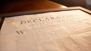 Venden copia de Declaración de Independencia de EE.UU.