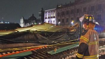 Granizo en Ciudad de México daña el Templo Mayor