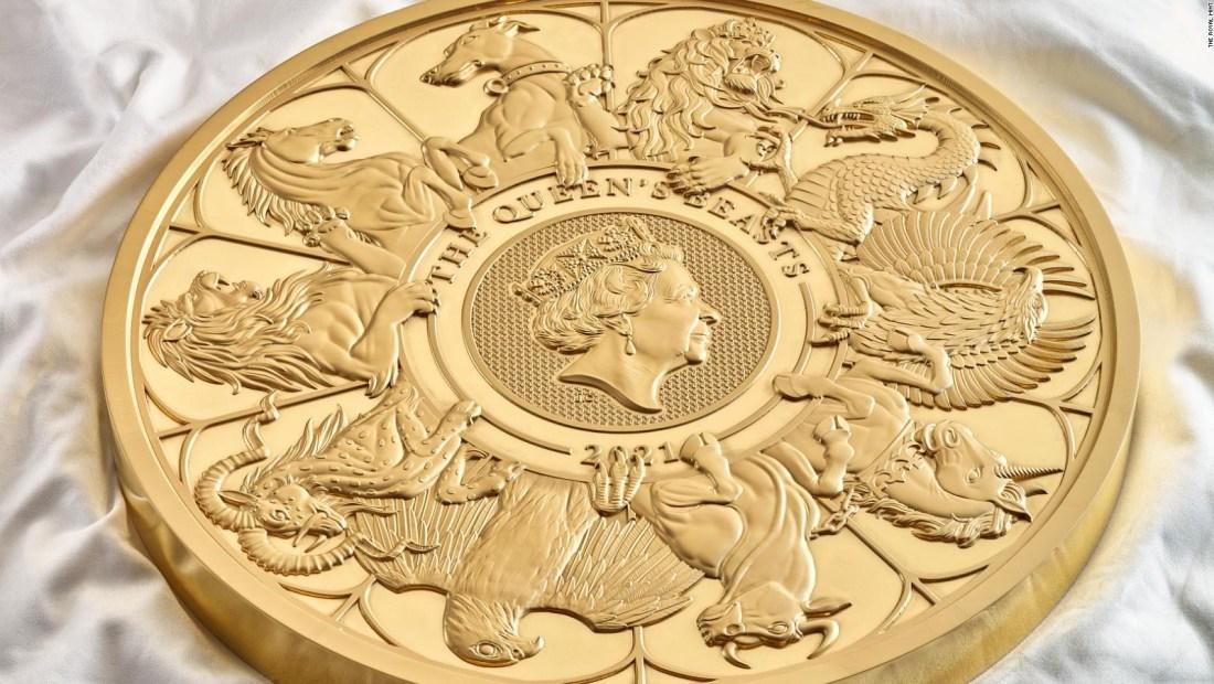 La moneda de oro gigante británica de 10 kilos