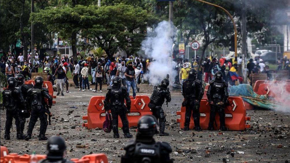 Mira las violentas manifestaciones en Colombia