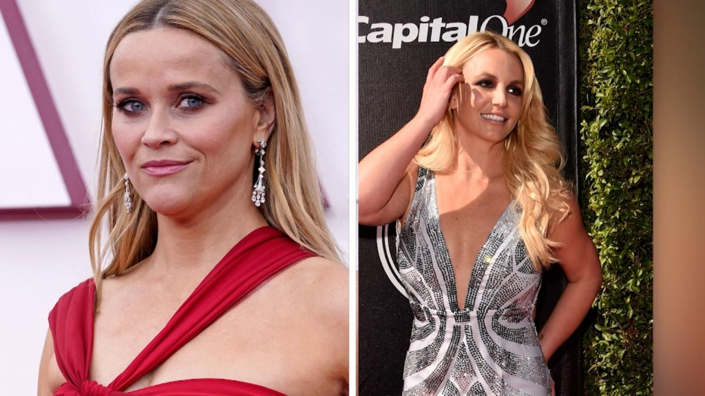 Reese Witherspoon se reflète dans Britney Spears