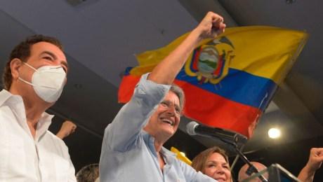 Guillermo Lasso, candidato ganador de las elecciones presidenciales en Ecuador.