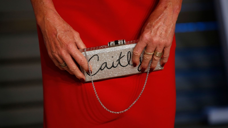 Jenner holds her clutch purse