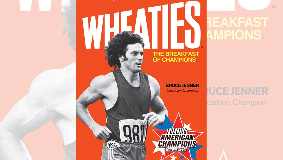 Wheaties featured retro images of Olympic champions