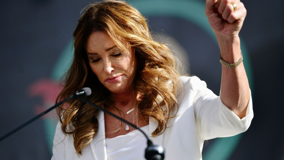 Jenner speaks at the 4th annual Women's March