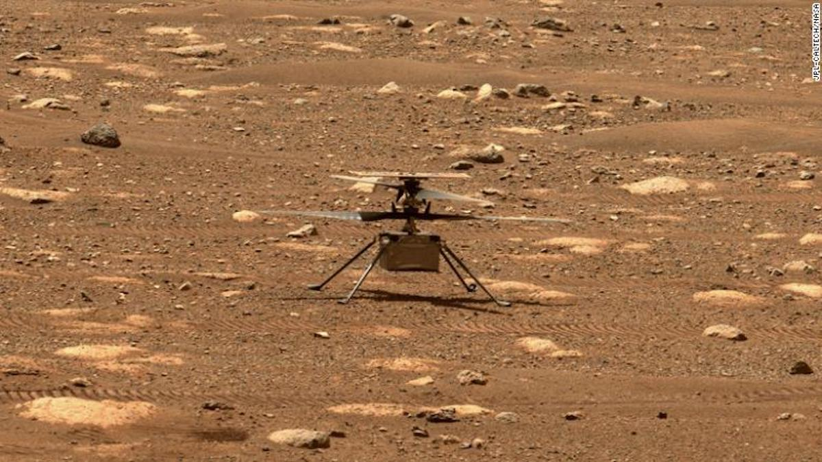 The Ingenuity helicopter successfully makes its first historic flight on Mars