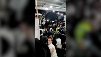 estampida israel video muertos