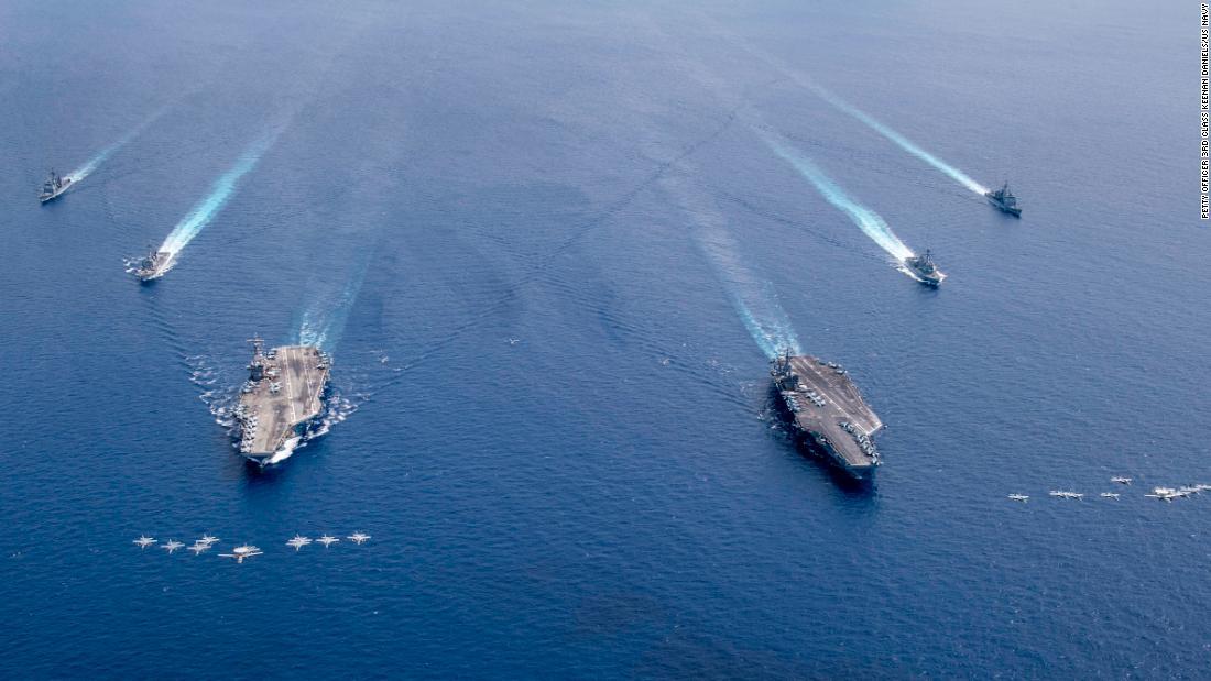 USS Ronald Reagan y USS Nimitz