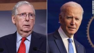 Frenar a Biden, el 100% del enfoque de Mitch McConnell