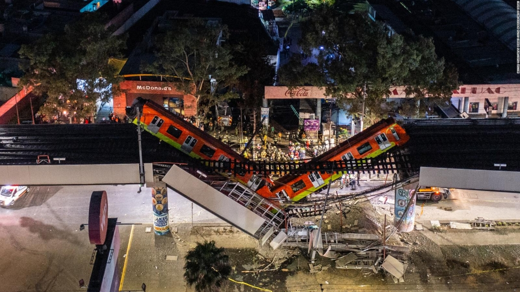 This was the collapse of an elevated section of the metro in CDMX
