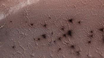 """Así se forman las misteriosas """"arañas"""" de Marte"""