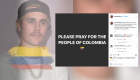 Manifestations en Colombie: des célébrités envoient des messages sur les réseaux