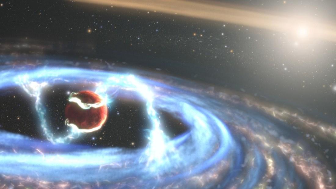 Mira cómo se forma un planeta gigante