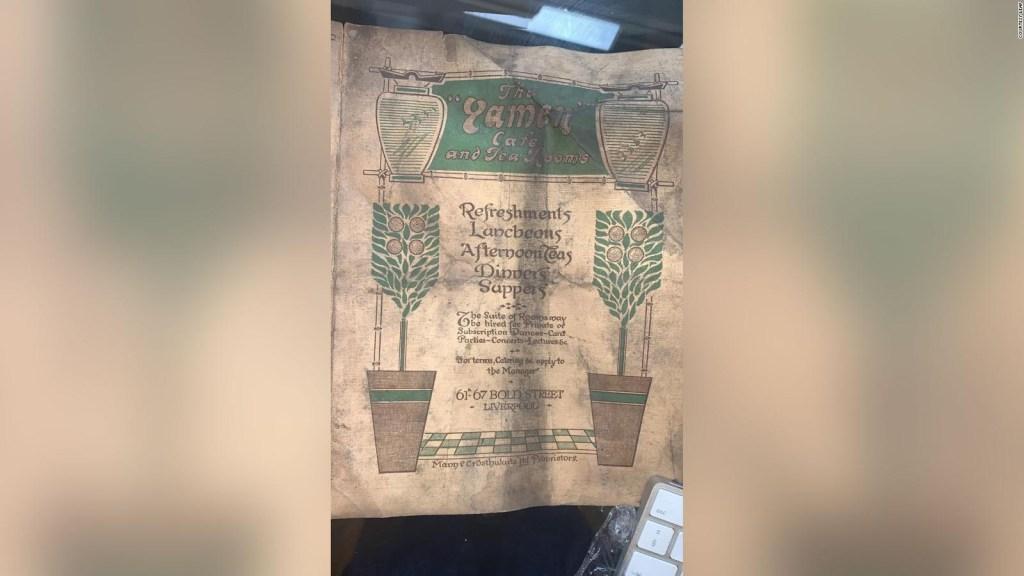 Hallan menú de 1913 en una cafetería en Inglaterra