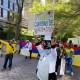 Se manifiestan en Nueva York para apoyar lucha en Colombia