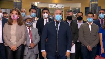 """Duque pide """"no más bloqueos"""" en Colombia"""